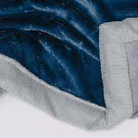 Saranoni Luxury Blanket | Navy Lush~ Gray Lush