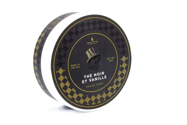 Noble Otter Soap Co.~ The Noir Et Vanille Shaving Soap