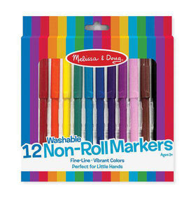 Melissa & Doug | Non Roll Markers