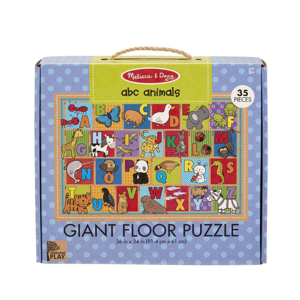 Melissa & Doug | Natural Play Giant Floor Puzzle ~ ABC Animals