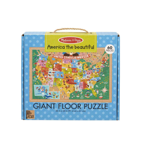 Melissa & Doug | Natural Play Giant Floor Puzzle ~ America the Beautiful