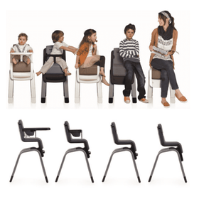 Nuna Zaaz High Chair | Pewter