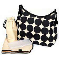 OiOi Ebony/Desert Dot Hobo Diaper Bag