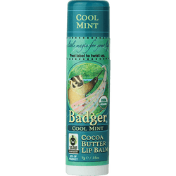 Badger Healthy Body Care ~ Organic Cocoa Butter Lip Balm - Cool Mint