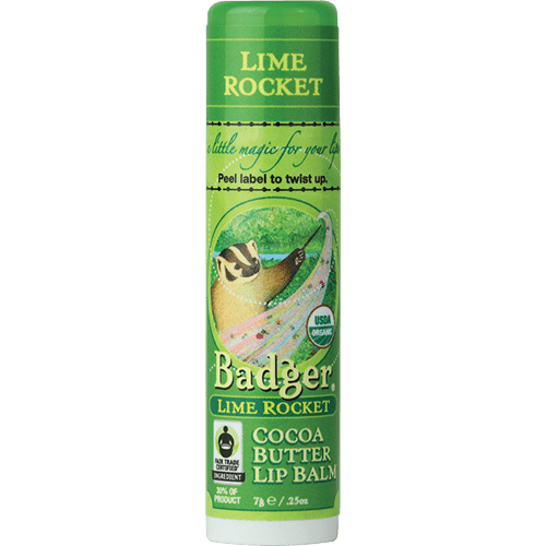 Badger Healthy Body Care ~ Organic Cocoa Butter Lip Balm - Lime Rocket