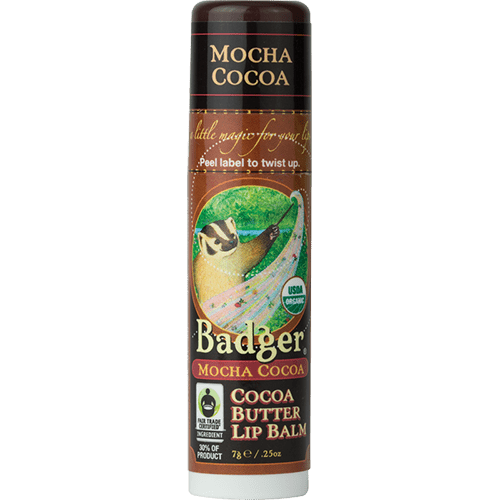 Badger Healthy Body Care ~ Organic Cocoa Butter Lip Balm - Mocha Cocoa