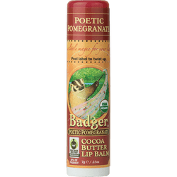 Badger Healthy Body Care ~ Organic Cocoa Butter Lip Balm - Poetic Pomegranate