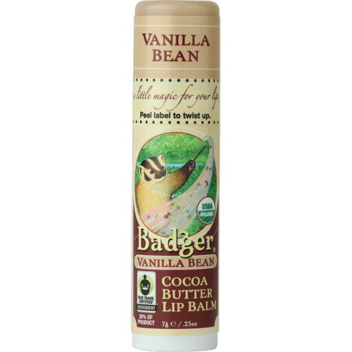 Badger Healthy Body Care ~ Organic Cocoa Butter Lip Balm - Vanilla Bean