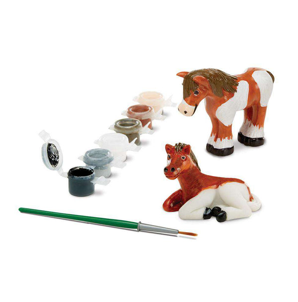 Melissa & Doug | Decorate-Your-Own Horse Figurines