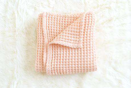 The Sugar House Cloud Blanket ~ Pale Peach