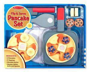 Melissa & Doug | Wooden Play Food | Flip & Serve Pancake Set