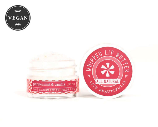 Live Beautifully - Whipped Lip Butter - Peppermint  & Vanilla