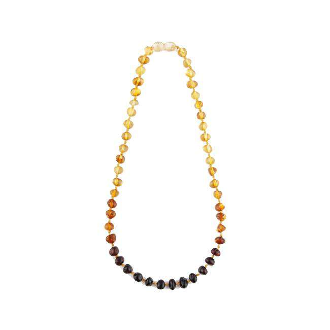EcoPiggy | Baltic Amber Children Necklace ~ Polished Rainbow