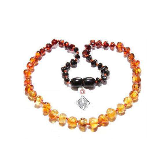 CanyonLeaf Polished Amber Ombre | Children's Necklace