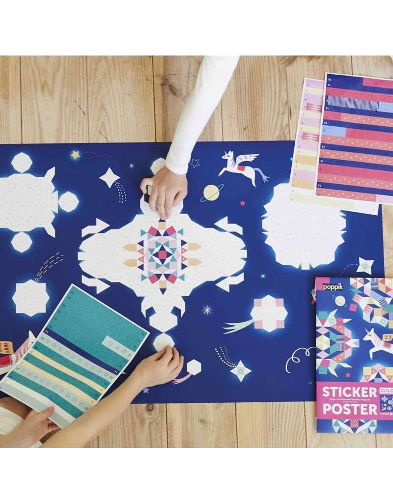Poppik | Giant Poster + 1100 Stickers ~ Constellation (7 Years +)