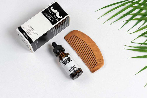 Private Stache | Beard Oil and Comb ~ Eagles Breath