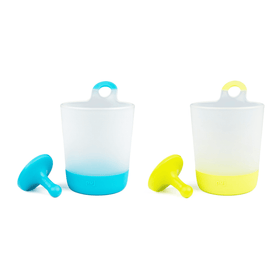 puj phillup | 2 pack hangable kids cups ~ Azul & Citron