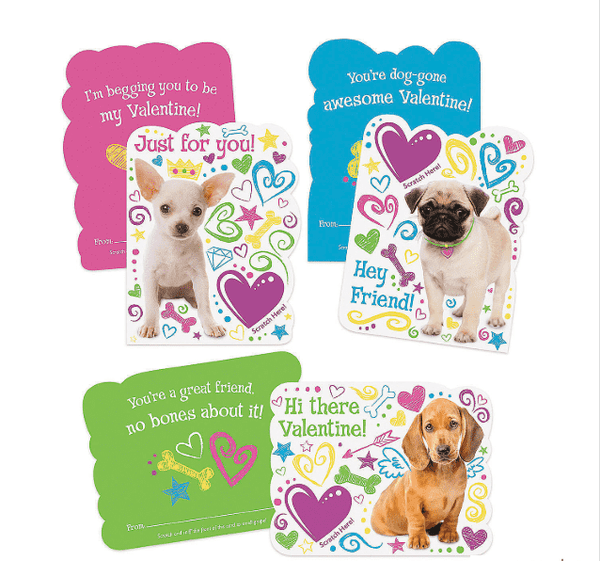 Peaceable Kingdom | Scratch & Sniff Valentines ~ Grape Puppy