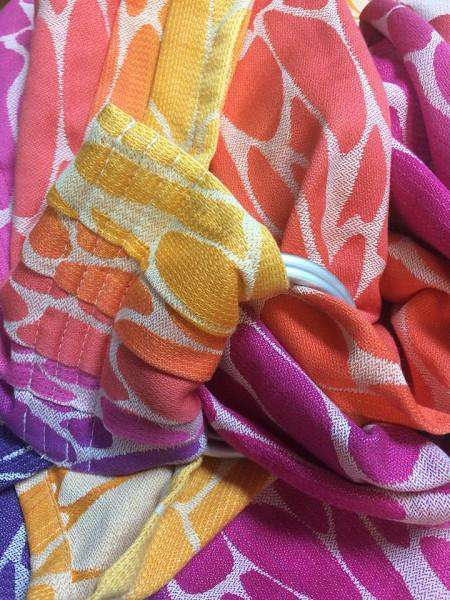 Natibaby Woven Wrap MMB Exclusive | White Weft | Rainbow Ripple