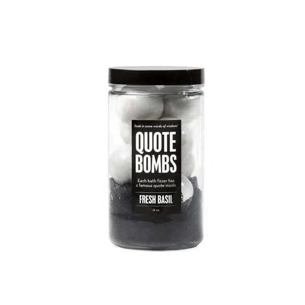 DaBomb Bath Fizzers | Quote Bombs Fresh Basil Jar