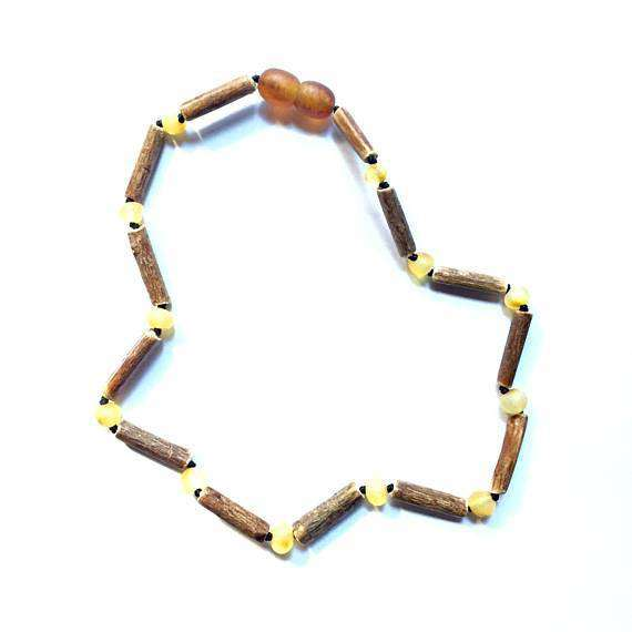 CanyonLeaf - Raw Amber + Hazelwood | Children's Necklace