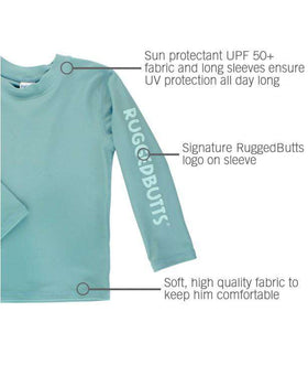 RuggedButts | Long Sleeve Rash Guard ~ Marine Blue