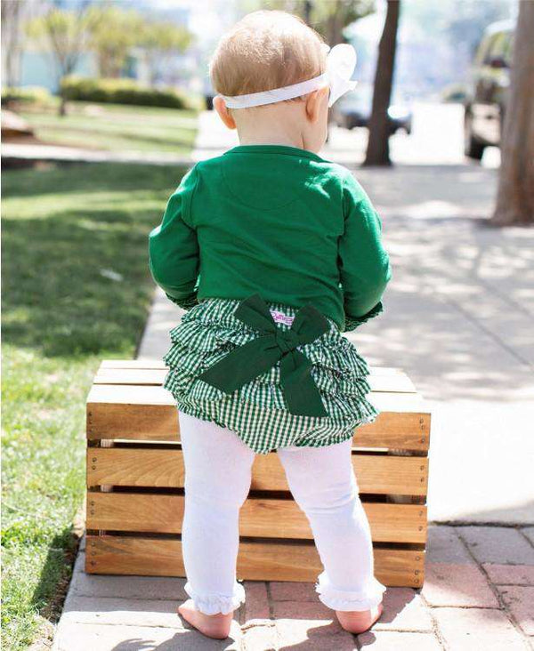 RuffleButts ~ White Footless Ruffle Tights