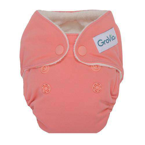 GroVia Newborn All-in-One Cloth Diapers - Rose