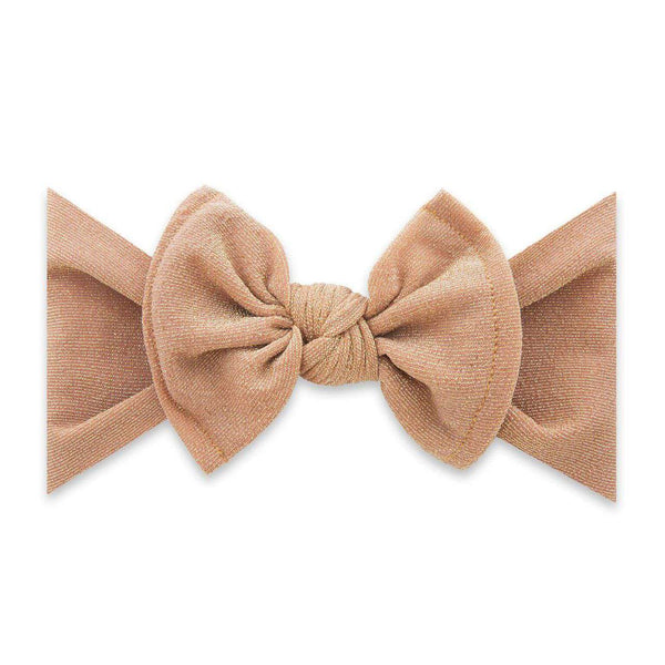 Baby Bling Bows | Holiday Collection Shimmer Knot ~ Rose Gold