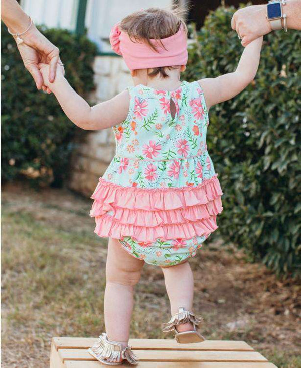 Ruffle Butts | Bubble Romper ~ Running in Wildflowers