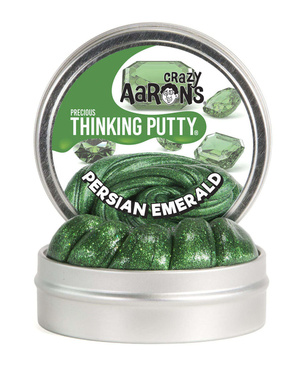 Crazy Aaron's Thinking Putty | Precious Gems ~ Persian Emerald 1.6 oz