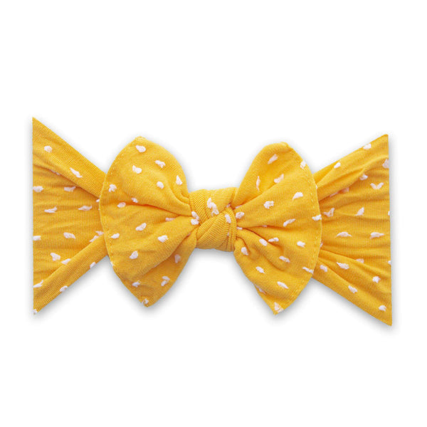 Baby Bling Bows |  Patterned Shabby Knot ~ Sunshine Dot