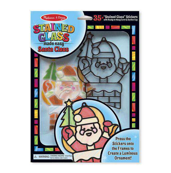 Melissa & Doug | Stained Glass Made Easy | Santa Claus