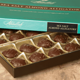 Abdallah Chocolate | Boxed Chocolate Selection ~ Dark Chocolate Sea Salt Alligators