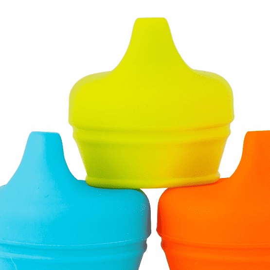 Boon | Snug Spout Lids | Blue, Orange, Green
