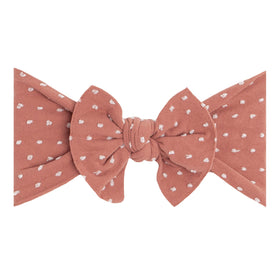 Baby Bling Bows | Patterned Sabby Knot ~ Putty Dot
