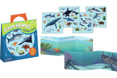 Peaceable Kingdom | Reusable Sticker Tote | Ocean Animals