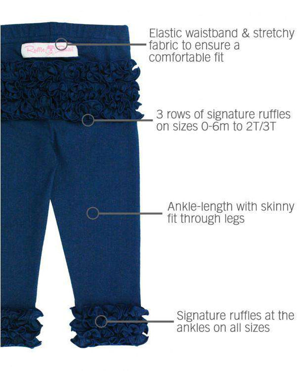 RuffleButts ~ Navy Ruffle Leggings