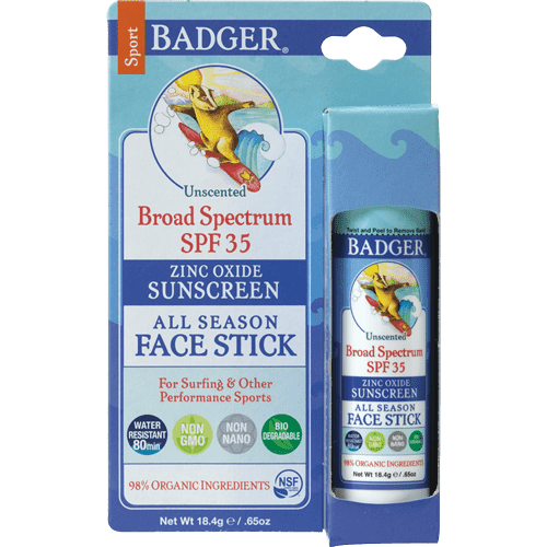 Badger Healthy Body Care ~ Sport Sunscreen Stick - SPF 35