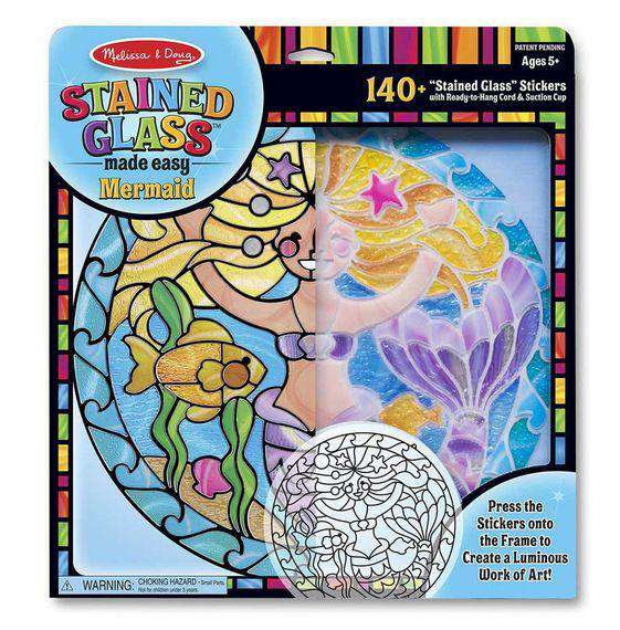 Melissa & Doug | Stained Glass Made Easy - Mermaid