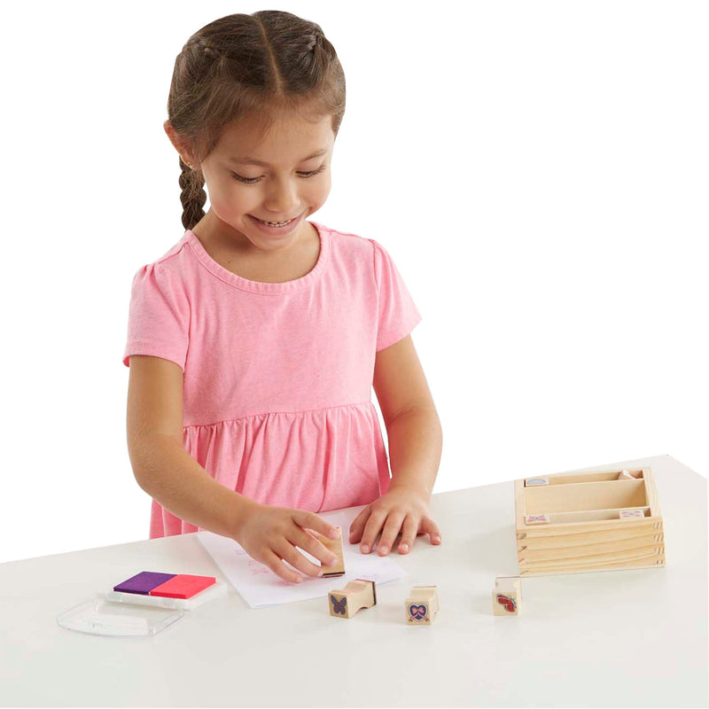 Melissa & Doug | Wooden Stamp Set ~ Butterflies & Hearts
