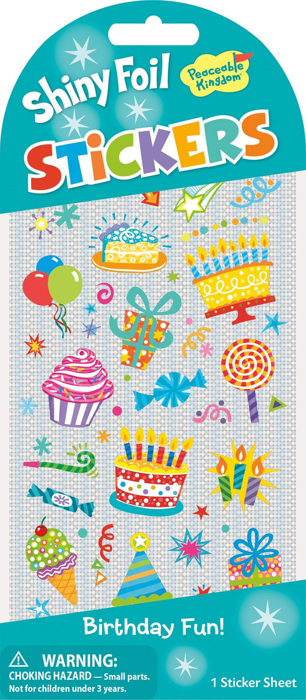 Peaceable Kingdom | Shiny Foil Stickers ~ Birthday