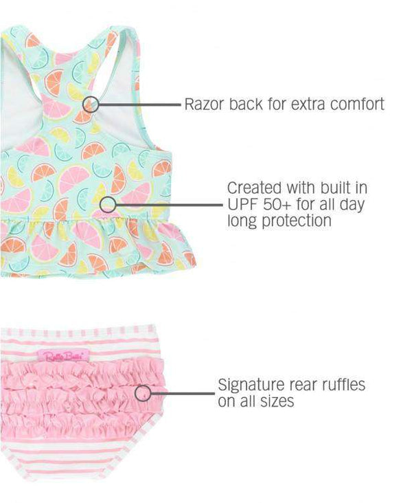 RuffleButts | Tankini ~ Squeeze The Day Peplum Tankini