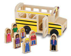 Melissa & Doug | Classic Wooden School Bus