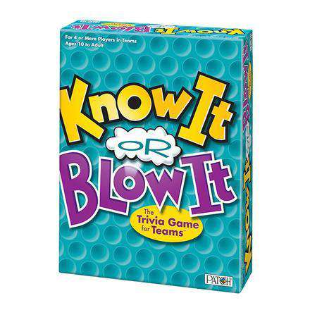 Know It or Blow It®