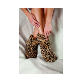 Warmies | Plush Body Boots ~ Tawny Leopard (Fits Adult  Size 6-10)