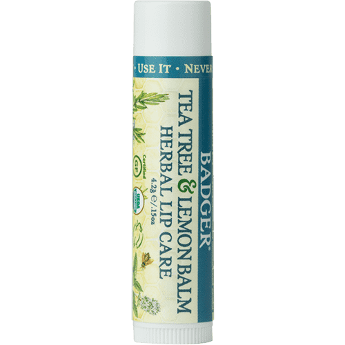 Badger Healthy Body Care ~ Classic Organic Lip Balm - Tea Tree & Lemon