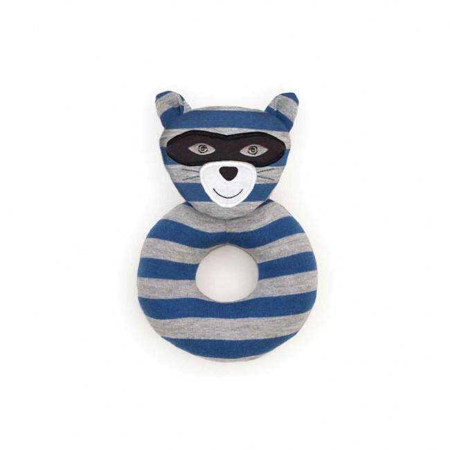 Apple Park Organic Farm Buddies Rattle | Robbie Raccoon