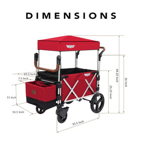 Keenz 7S Stroller Wagon | Red