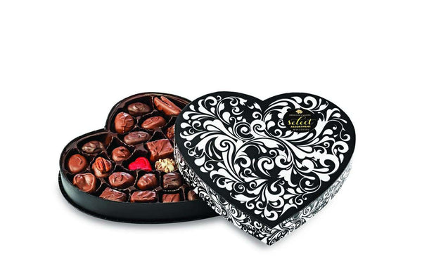 Abdallah Chocolate | Valentine's Day Selection ~ Embossed Heart Box *final sale*